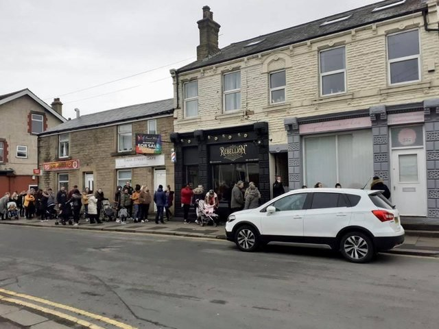 People are queuing around the block to visit the new craze in town.