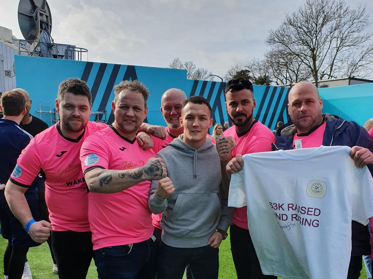 Leeds United fan's fundraising team on Sky Sports Soccer AM show