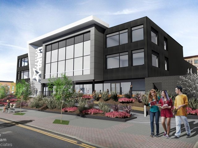 An artist's impression of the CAPA College building, which was due to be completed on Mulberry Way later this year.