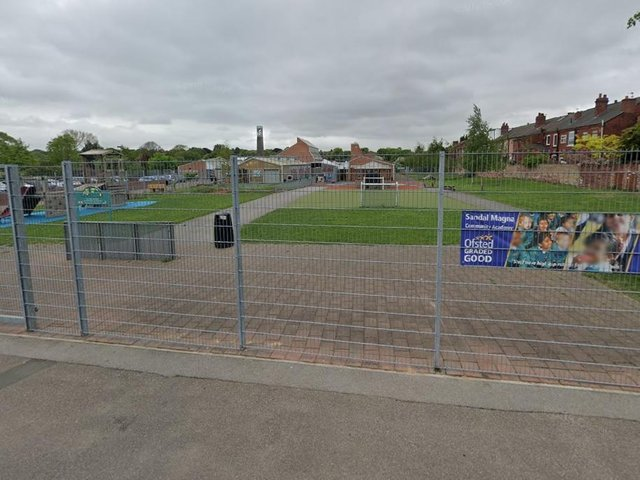 It was confirmed last week that Sandal Magna Community Academy had closed to pupils in four year groups after contractors found large amounts of rot in the roof of the building. Photo: Google Maps