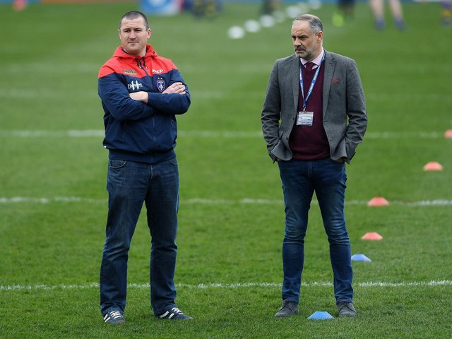 OPTIMISTIC: Wakefield chief executive Michael Carter (right) feels that Chris Chester's side are in a much better position than they were eight to nine months ago.