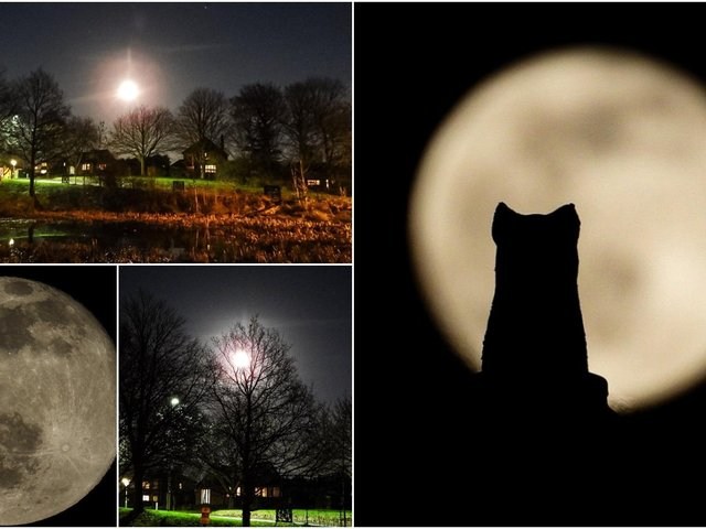 The Snow Moon was spotted at the weekend and captured by many photographers, including these stunning images from Sue Billcliffe.