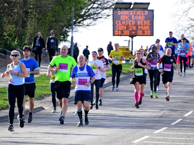 Wakefield Hospice's annual 10k run and 1k mini run have been cancelled for the second year in a row, amid concerns about the Covid-19 pandemic. Pictured is the 10k in 2019.