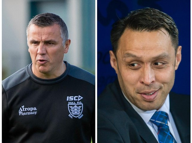 POSITIVE IMPACT: Andy Last, left, and Willie Poching, right, have been a breath of fresh air for Wakefield Trinity says head coach Chris Chester. Pictures: Allan McKenzie/SWpix.com