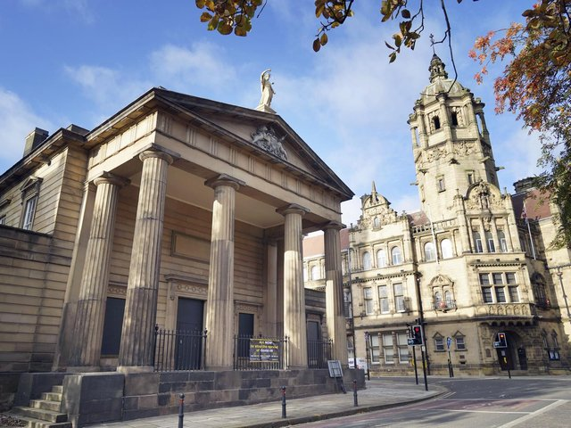 The former crown court building on Wood Street