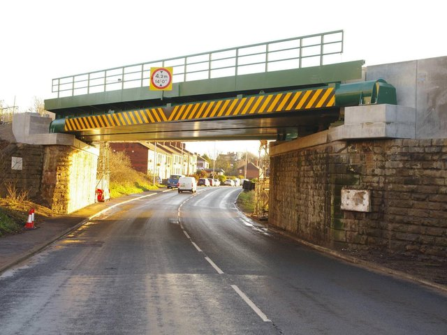The new, 635-tonne bridge was installed on Christmas Day. It is higher and stronger than the previous bridge, which had stood for 140 years. Photo: Network Rail