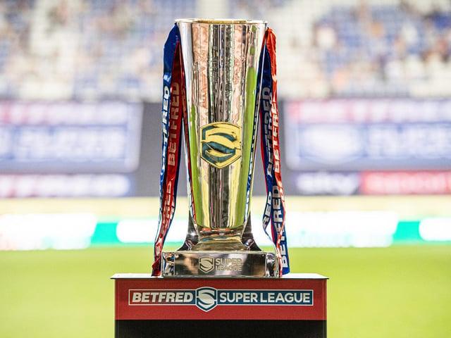 The Super League trophy. Picture: SWpix.com.