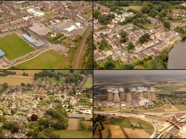 Did you live in the Five Towns in the 2000s? You might recognise some of these familiar streets and sites - as seen from the air.