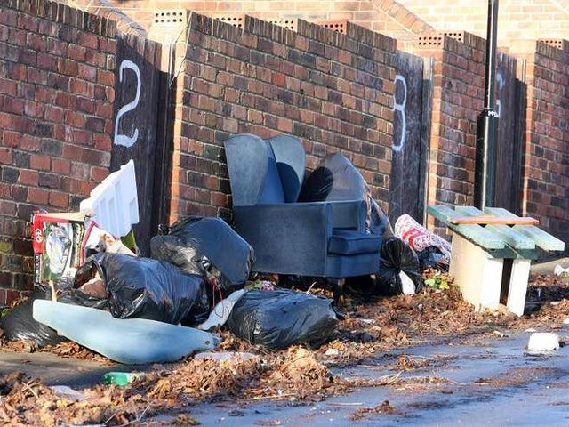 Flytipping stock image