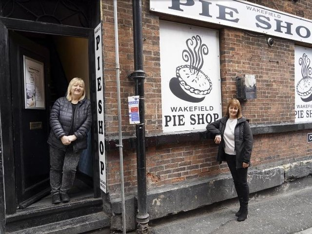 Colleagues Sharon Devonport and Karen Eccleston outside the Cheapside shop.