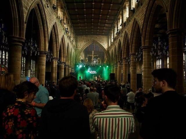A Long Division gig at Wakefield Cathedral