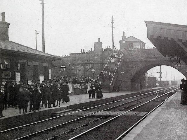 Horbury and Ossett station around 1900