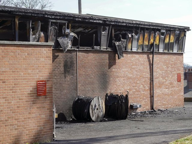 A fire at a BT exchange in Hemsworth is believed to have been started deliberately, police have confirmed.