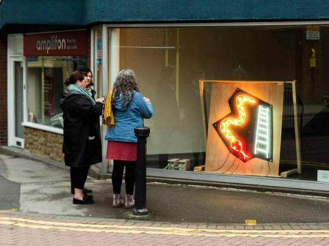 Artwalk Wakefield is taking over shop windows and showcasing the creative works of local artists, poets and musicians to brighten up your daily walk