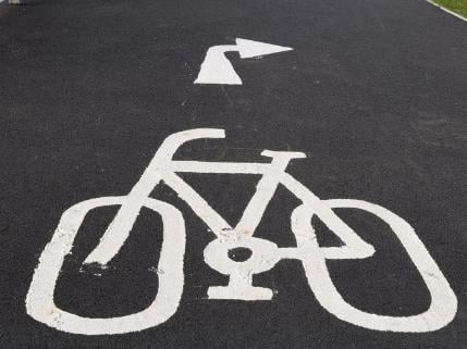 The cycle path section is nearing completion (library pic)