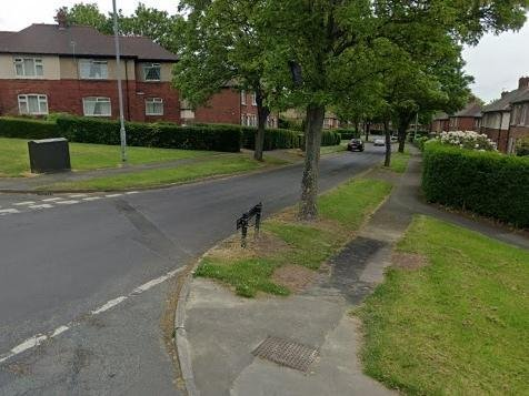 Greenwood Road on Eastmoor.
