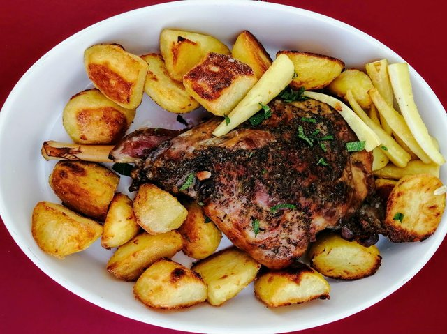Kleftiko is a traditional Greek recipe made with slow cooked lamb