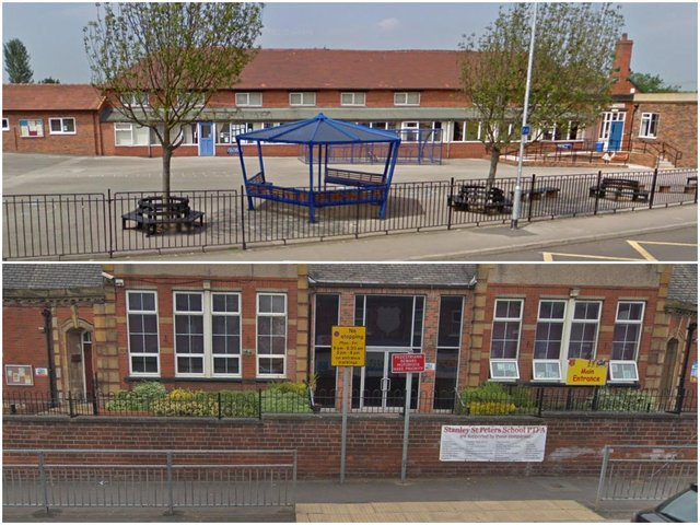 Sharlston Community School (top) and Stanley St Peter's (bottom)