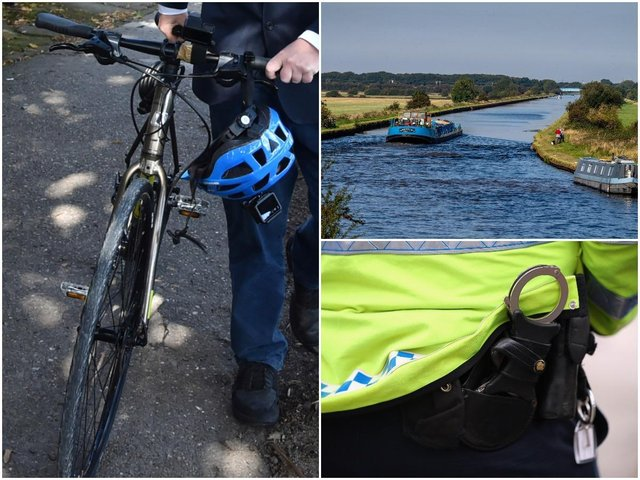 """Two pensioners were left """"bruised black and blue"""" after being attacked during a walk along a canal in Normanton. Stock images."""