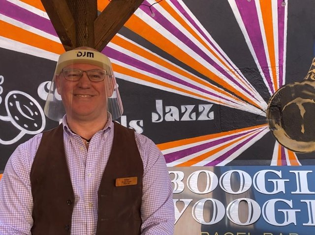 Adrian Birden, from Boogie Woogie Bagel Bar on Northgate, said that reopening felt like the first step towards normality.