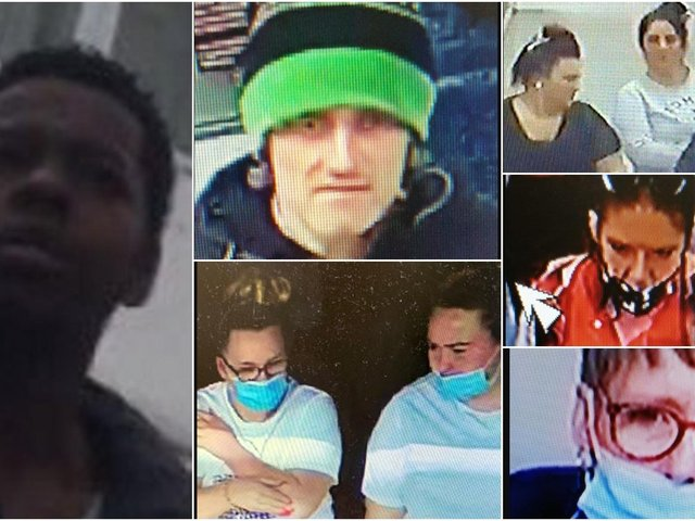 West Yorkshire Police are asking for the public's help in tracing these people caught on camera in Wakefield.