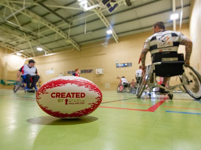 ON THE LOOKOUT: Wakefield Trinity Community Foundation are recruiting new players for their Wheelchair rugby league side. Picture: Craig Zadoroznyj/SWpix.com