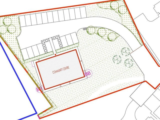 Sketches of the proposed centre's location have been released alongside the application.
