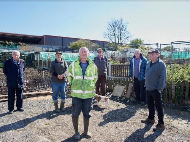 Allotment holders are angry about the prospect of having to move to a smaller site.