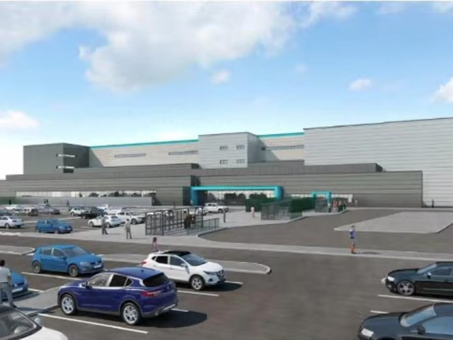 An artist's impression of how the warehouse will look.