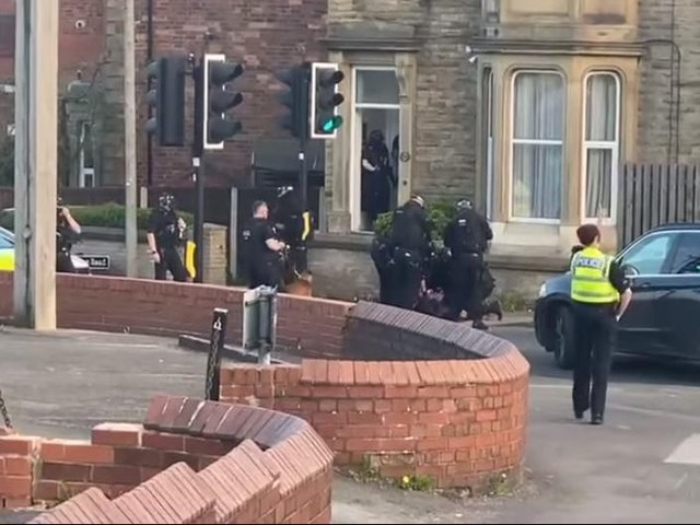 A man has been arrested after being found in possession of a knife on a busy Wakefield road. Photo: Wakefield Official News