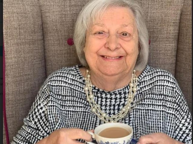 Tea connoisseur and care home chief tea taster, resident Patricia Algeo, aged 90.