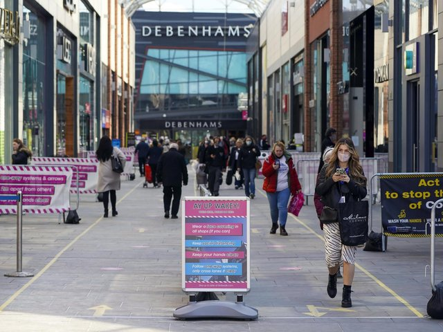 Wakefield shoppers Wakefield shoppers welcomed the return of non-essential shops last week with a spending spree, figures suggest.