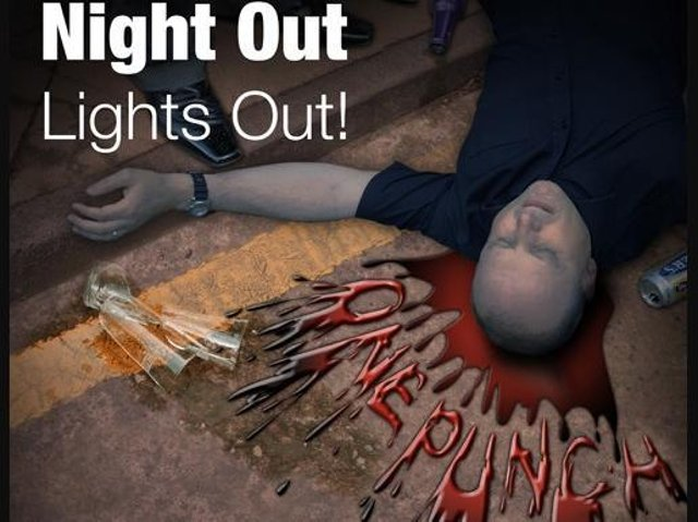 The 'One Punch Can Kill' campaign reminds people that in a split second a person can become a killer or be killed.