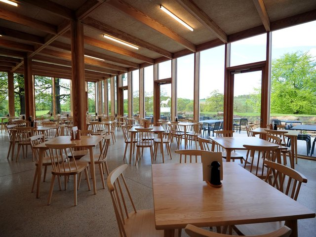 The £3.6m visitor centre and restaurant first opened in 2019, and just weeks later secured three prestigious awards at the RIBA Yorkshire Awards.