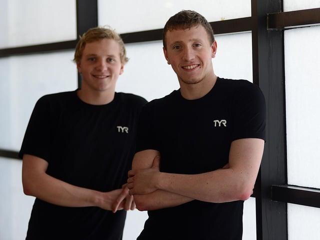 Tokyo bound: Joe (left) and Max Litchfield.