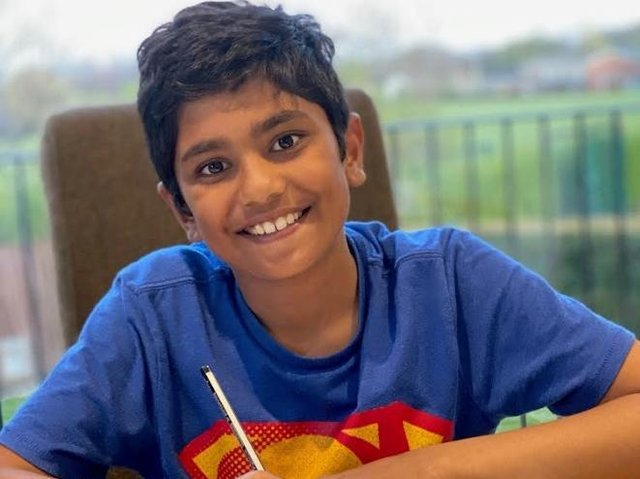 Aurav Vinta, a Year 5 pupil at Queen Elizabeth Grammar School, decided to take on the challenge after developing a passion for writing poetry while attending a key workers club during last year's lockdown.