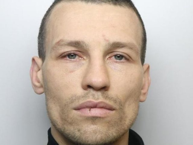 Andrew Hague was jailed for 30 months for attacking a man in the street with a baton.
