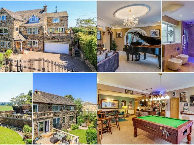 Open plan living/entertainment area, home cinema room, games room and gym - this four-bedroom Wakefield family home has it all.