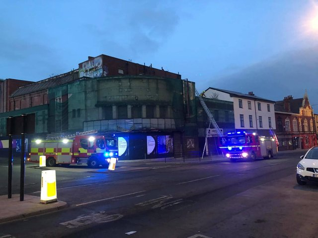 Fire crews were called to a blaze at Wakefield's former ABC Cinema over the weekend, it has been confirmed. Photo: Kasia Nitenberg