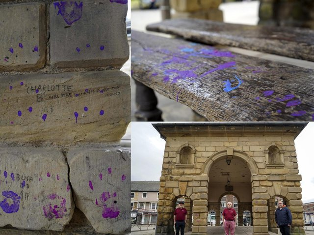 Police investigation launched after yobs vandalise 285 year old Pontefract landmark