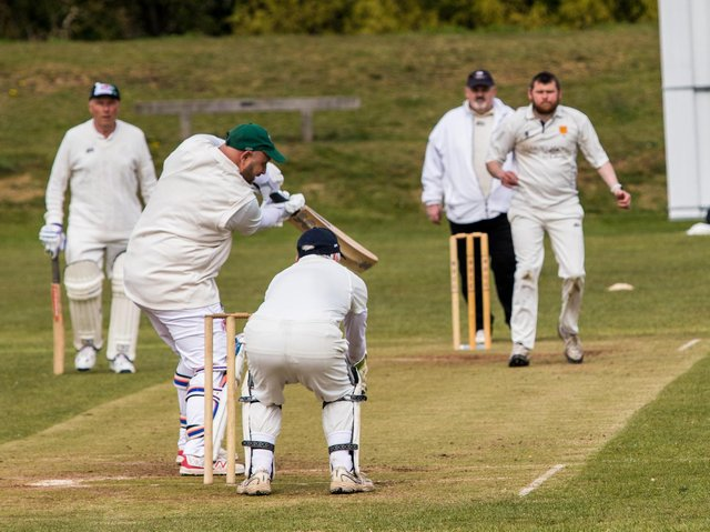 Action from Notton seconds against Barnby Dun seconds with Matthew Charlton on his way to a century for Notton. Picture: Stuart Taylor
