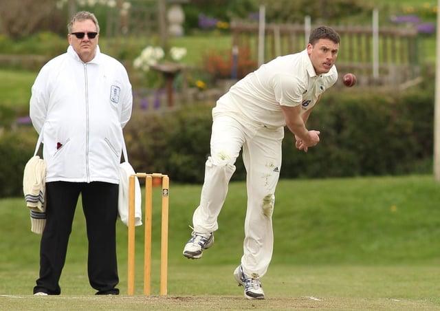 Three wickets: Ossett's Dan Busfield.