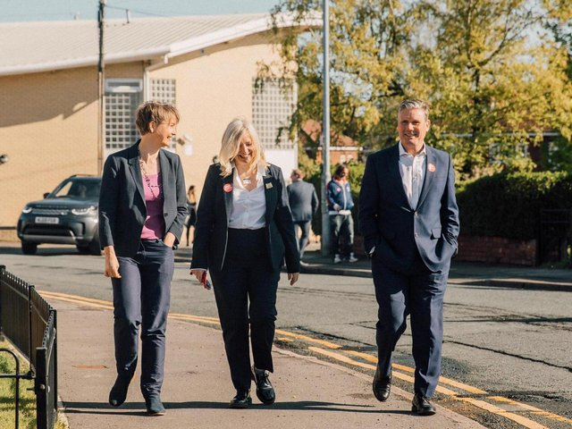 Sir Keir Starmer visited Pontefract on the campaign trail on Wednesday, alongside Labour's West Yorkshire mayoral candidate Tracy Brabin and local MP Yvette Cooper.