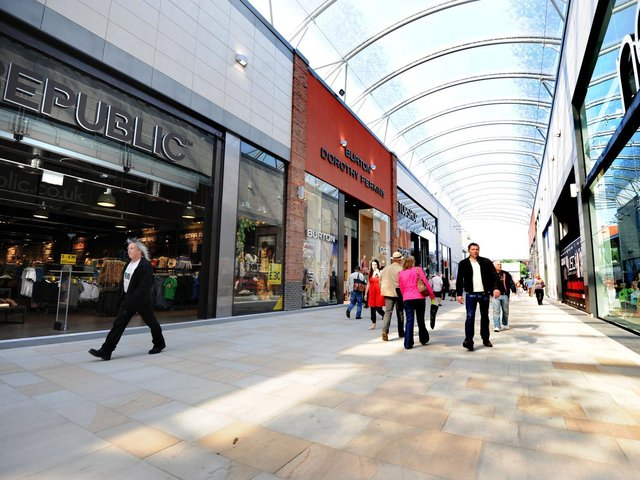 """The manager of Trinity Walk has promised to make sure """"the next decade is even better than the last"""", as the centre marks its 10th anniversary. Trinity Walk is pictured in May 2011."""