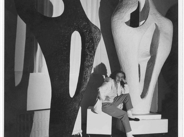 Barbara Hepworth November 1964. Picture by Lucien Myers. copyright Bowness.