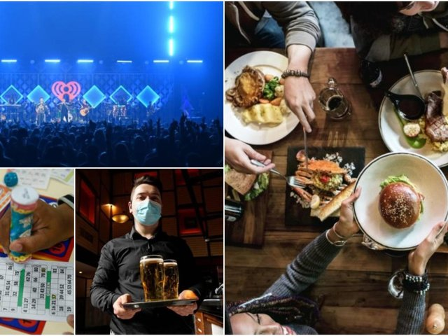 Gigs, bingo, indoor drinking and indoor restaurants will be all reopening on May 17.