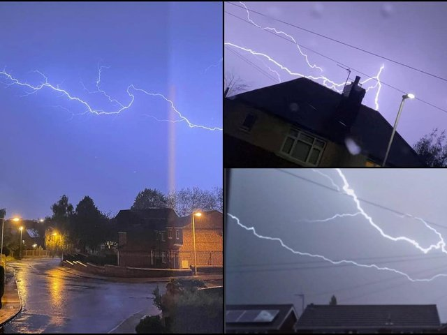 There was excitement in the Wakefield district last night, as a huge thunderstorm arrived, bringing with it loud cracks of thunder and stunning flashes of lightning.