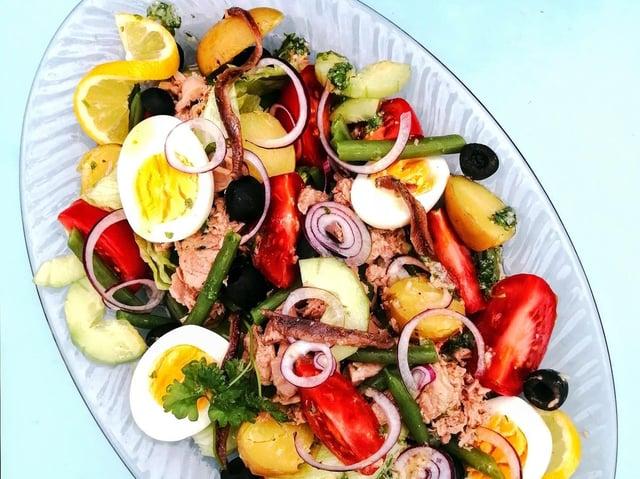 Karen's healthy tuna nicoise salad