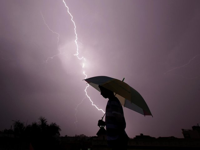 Police in Wakefield have issued advice on staying safe during thunderstorms, following the tragic death of a nine-year-old boy in Blackpool who was struck by lightning. Photo: RAKESH BAKSHI/AFP via Getty Images