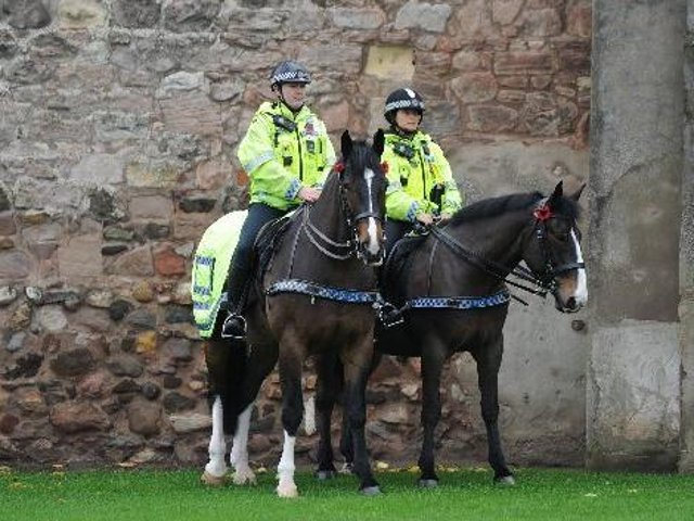 Mounted patrols have been brought in to Castleford